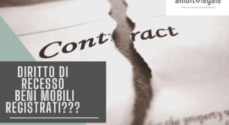Diritto di recesso su beni mobili registrati? Si può'?